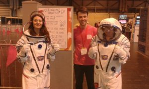 Our stand at The Big Bang Fair! Complete with astronauts!