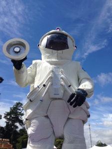 An astronaut's suit.