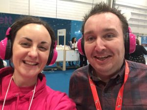 Alice Lacey, CEO of now>press>play, with Mr Head