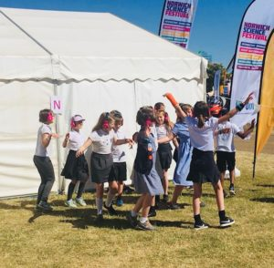 Children doing a now>press>play Experience at The Royal Norfolk Show