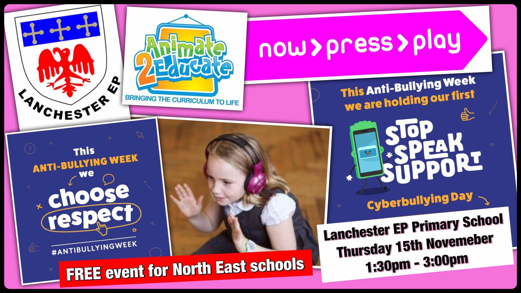 A Free Anti-Bullying Event for North East Schools